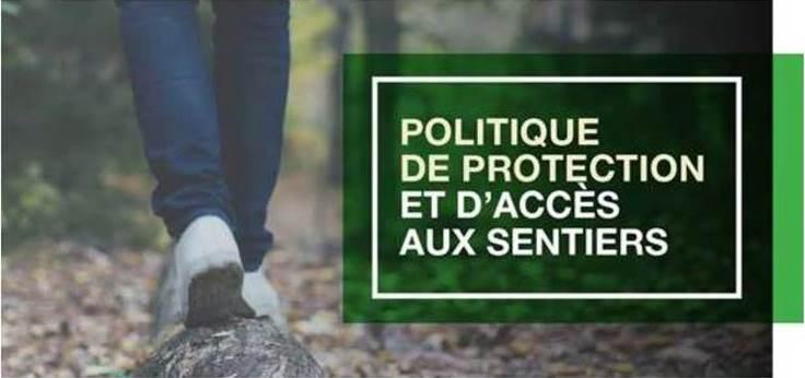 Politique de protection et d'accès aux sentiers
